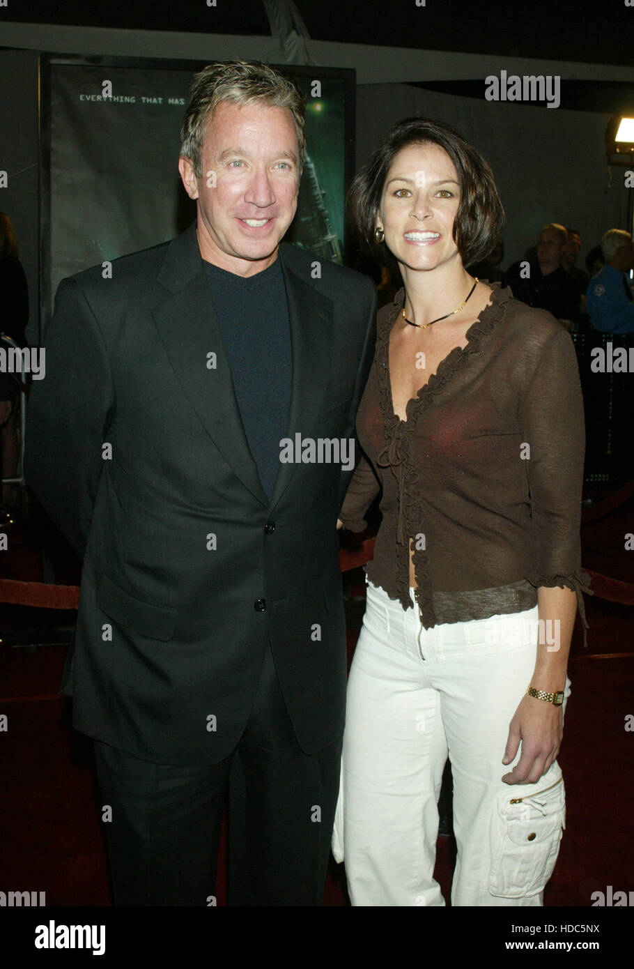 Tim Allen and girlfriend Jane Hadjuk at the world premiere of the film,  Matrix Revolutions, at the Disney Concert - Stock Image