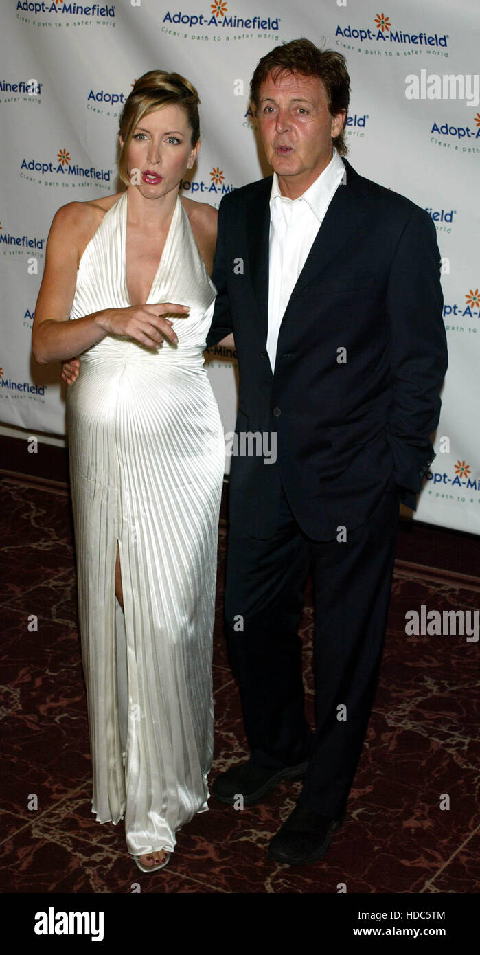 Paul McCartney And His Pregnant Wife Heather Mills At The 3rd Annual Adopt A Minefield Benefit In Los Angeles On Tuesday 23 September 2003