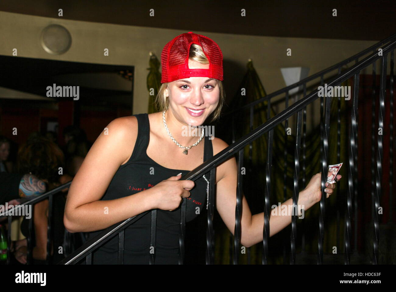 Actress Kaley Cuoco at a party in West Hollywood, California on July 20, 2003. Photo by Francis Specker - Stock Image