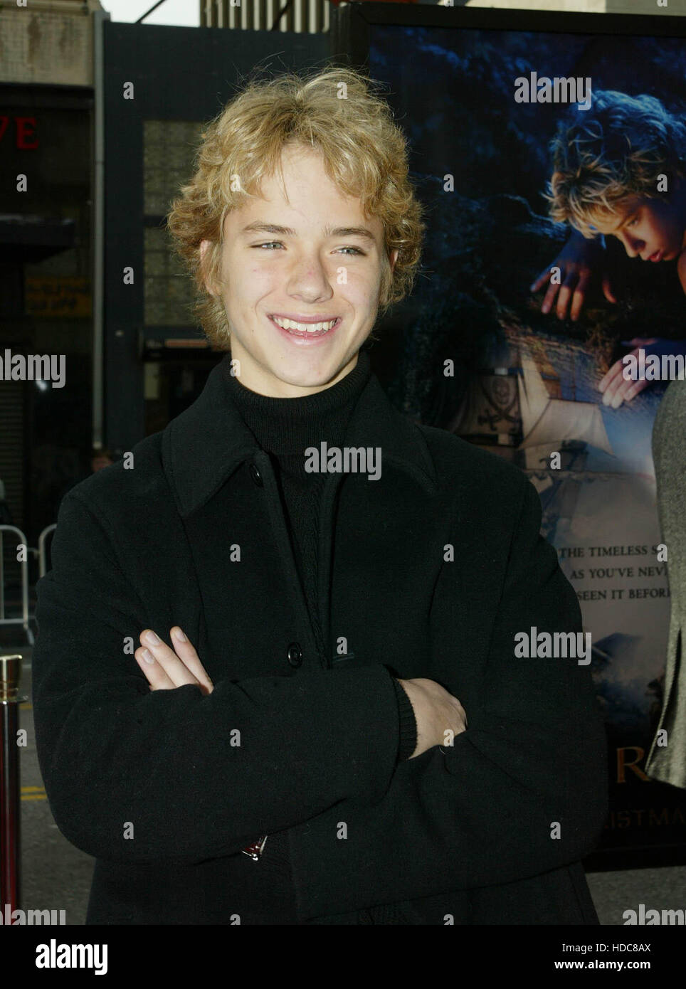 FBS05 20031213 HOLLYWOOD, UNITED STATES : Cast member Jeremy Sumpter  at  the  premiere of his film 'Peter Pan' - Stock Image