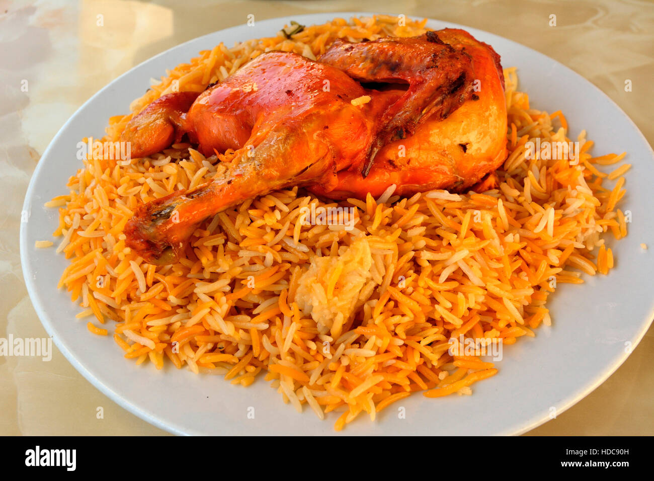 Chicken with rice - Stock Image