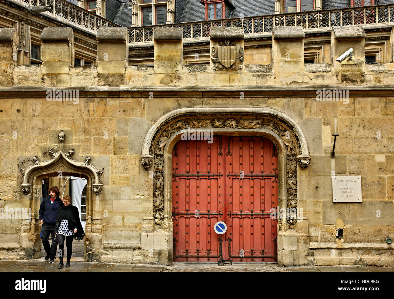 The entrance of the Medieval Museum (Musée national du Moyen Âge- also known as 'Musée de Cluny'), - Stock Image