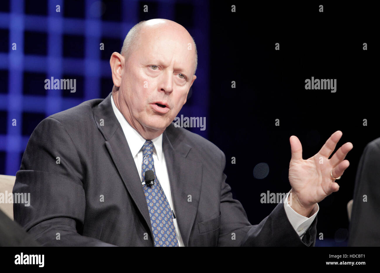 Michael Boyce, chairman and chief executive officer for PQ Corp., speaks during the 2010 Ernst & Young Strategic - Stock Image