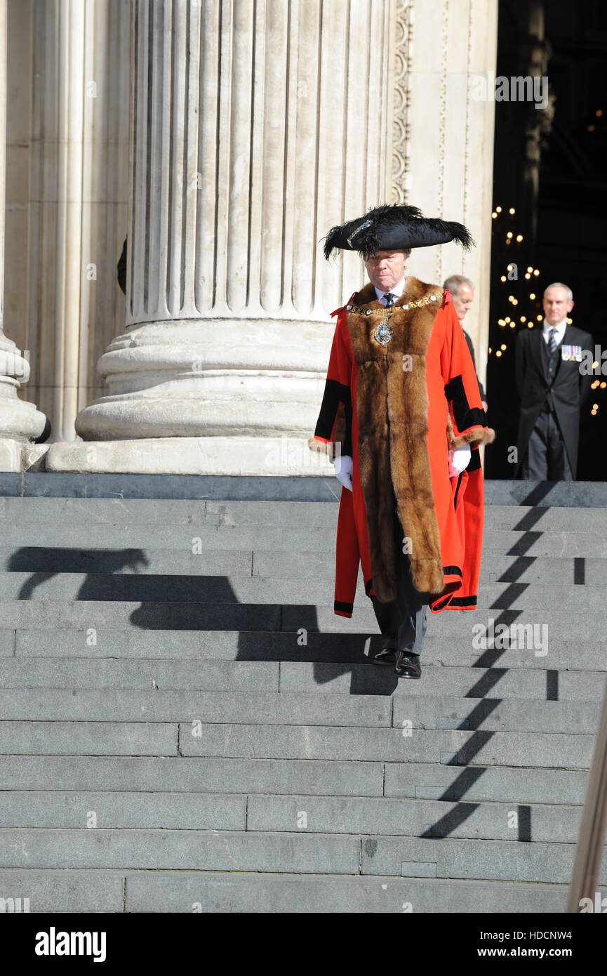 The Lord Mayor of London attending the National Police Memorial Day 2016 at St Paul's Cathedral, London.  Featuring: - Stock Image