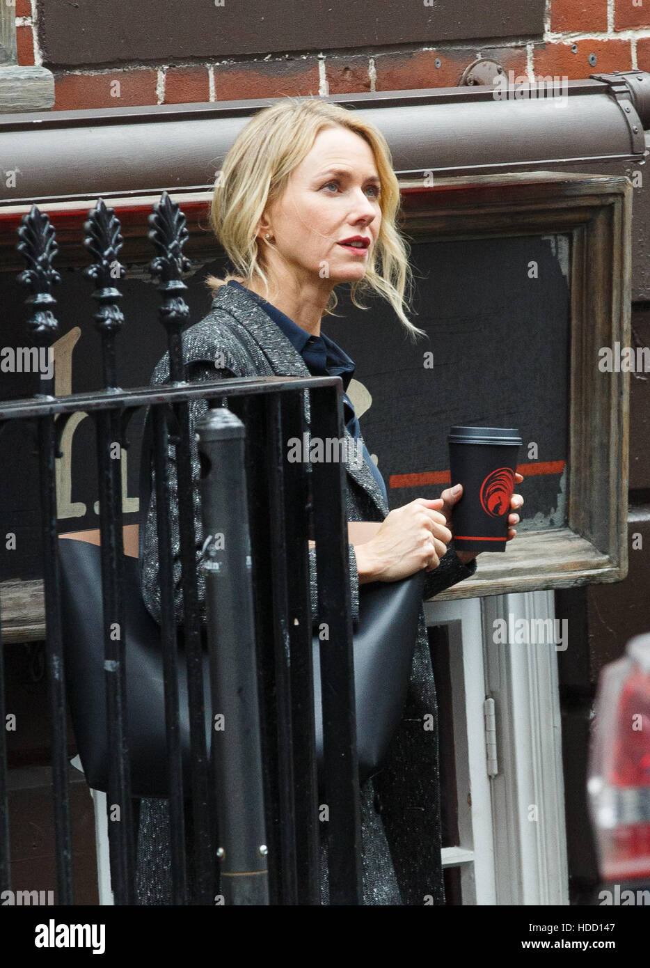 Naomi Watts filming the Netflix psychological drama series