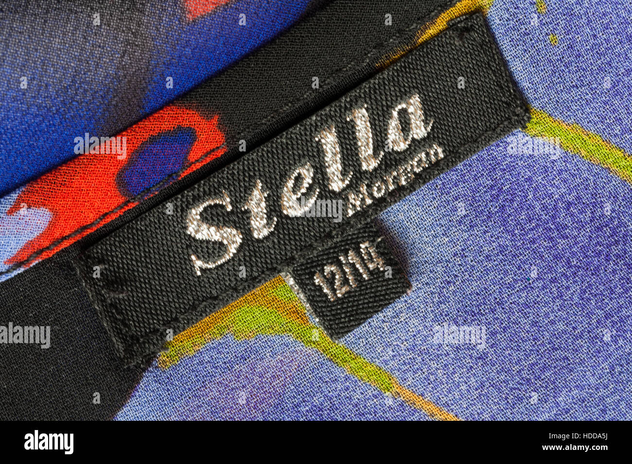 Stella Morgan label in woman's garment size 12/14 Stock Photo
