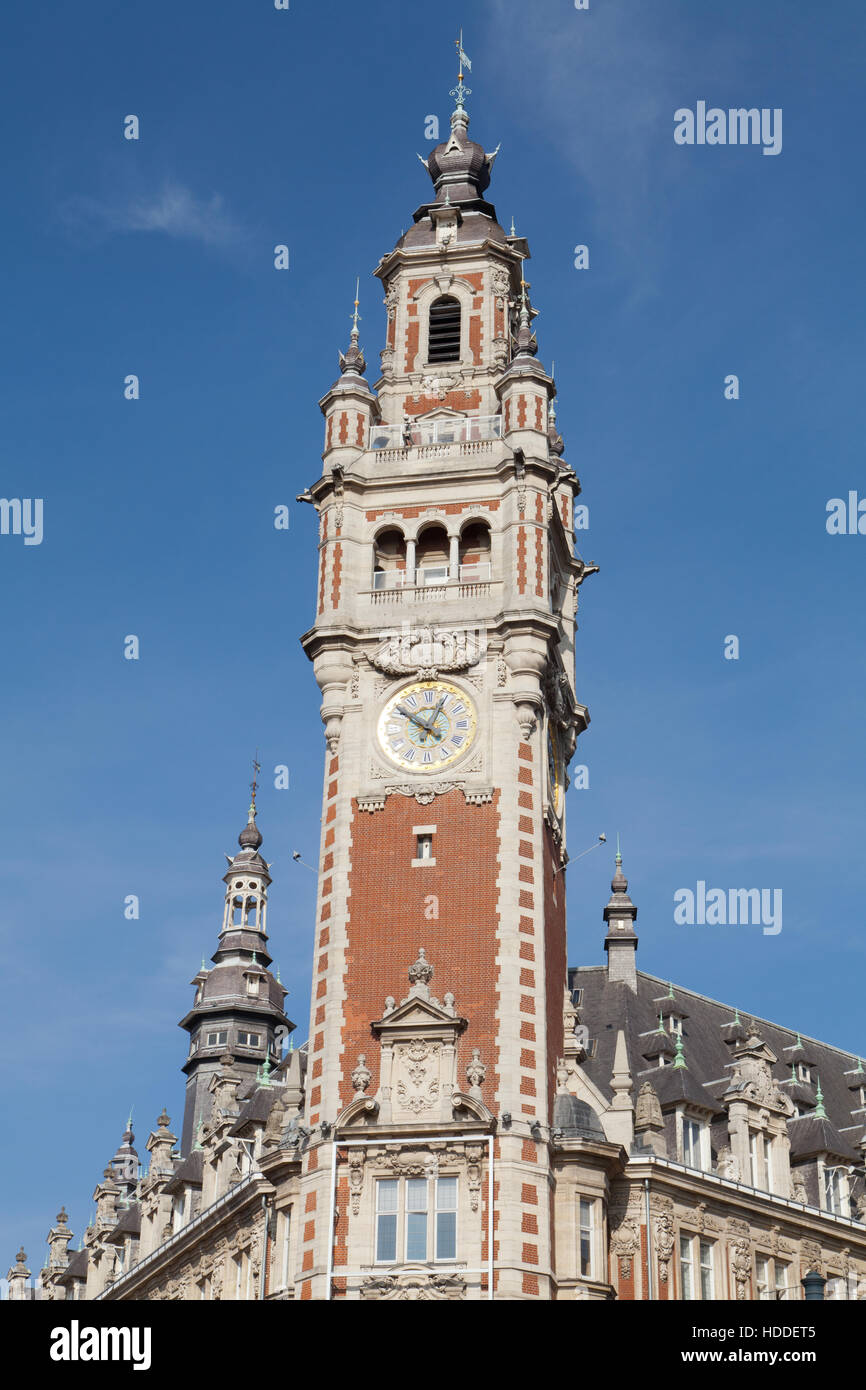 Lille chamber of commerce, northern France. - Stock Image
