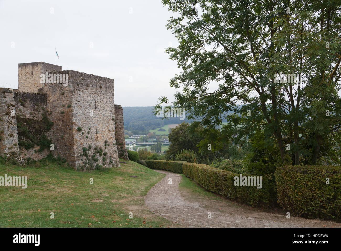 Château de la Madeleine, Chevreuse, Yvelines department, Île-de-France region, France. - Stock Image