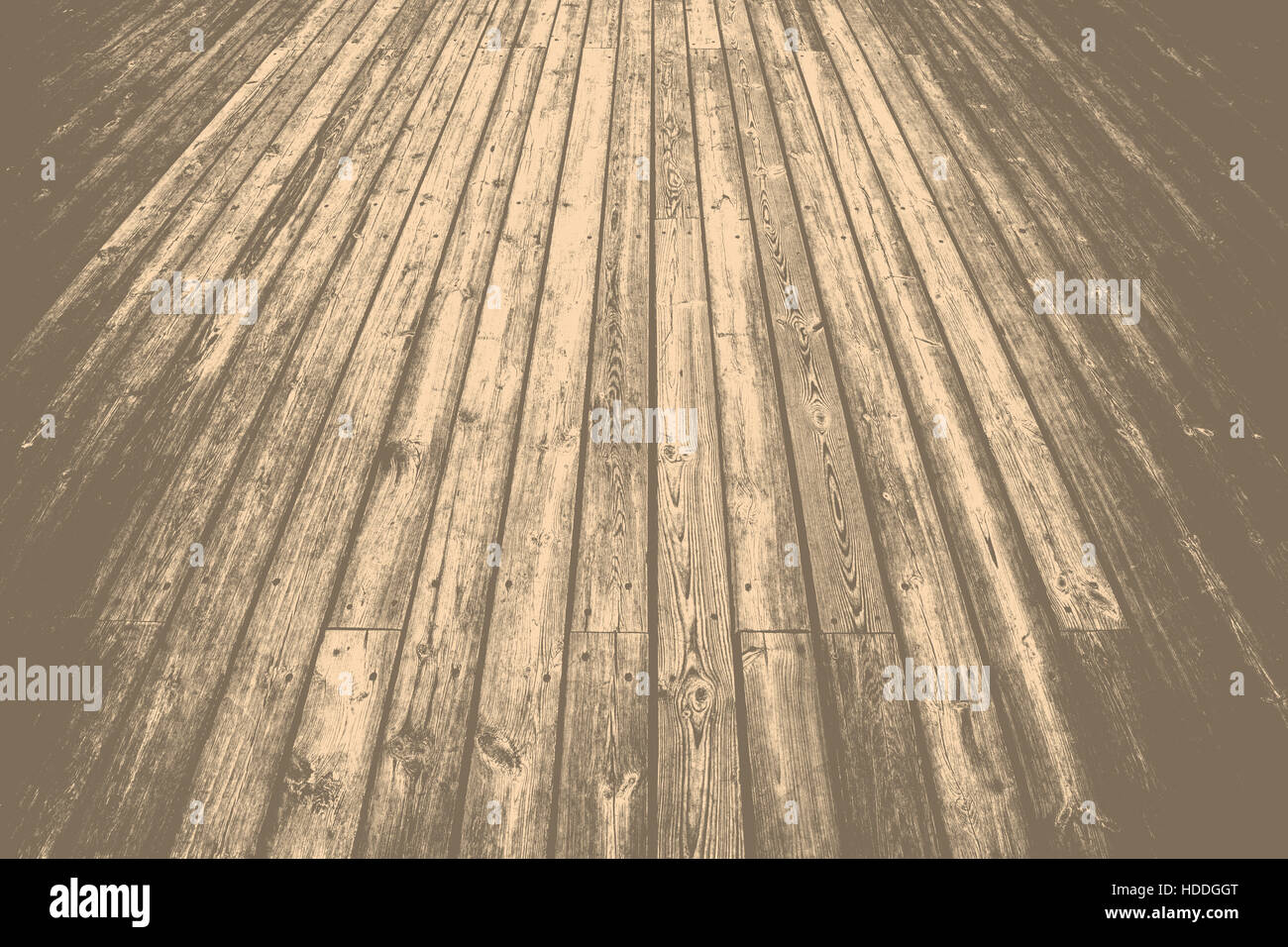 Grunge wooden planks background - layer for photo editor. - Stock Image