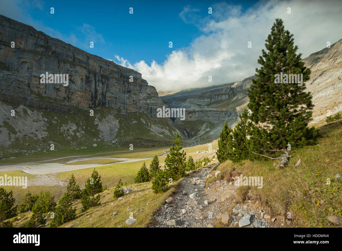 Ordesa y Monte Perdido National Park, Huesca, Aragon, Spain, Pyrenees mountains. Stock Photo