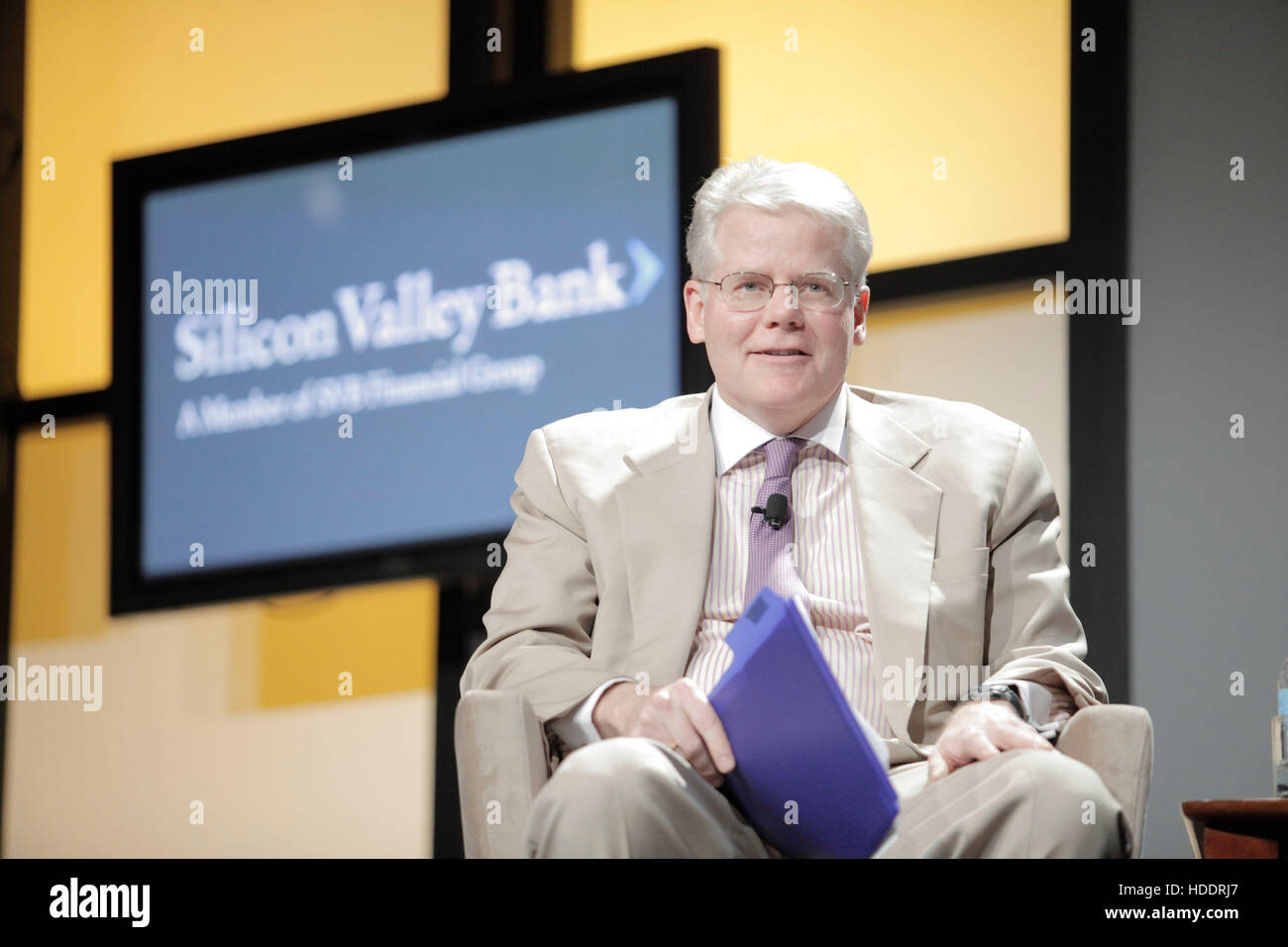 James Anderson, chief investment officer of Silicon Valley Bank, speaks during the 2010 Ernst & Young Strategic - Stock Image