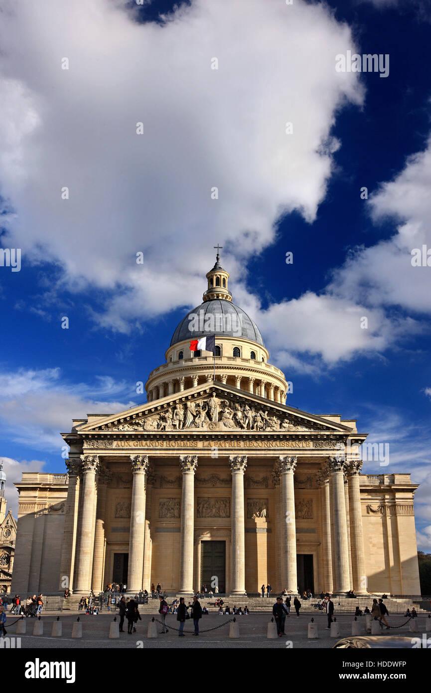 The Pantheon, Quartier Latin, Paris, France. - Stock Image