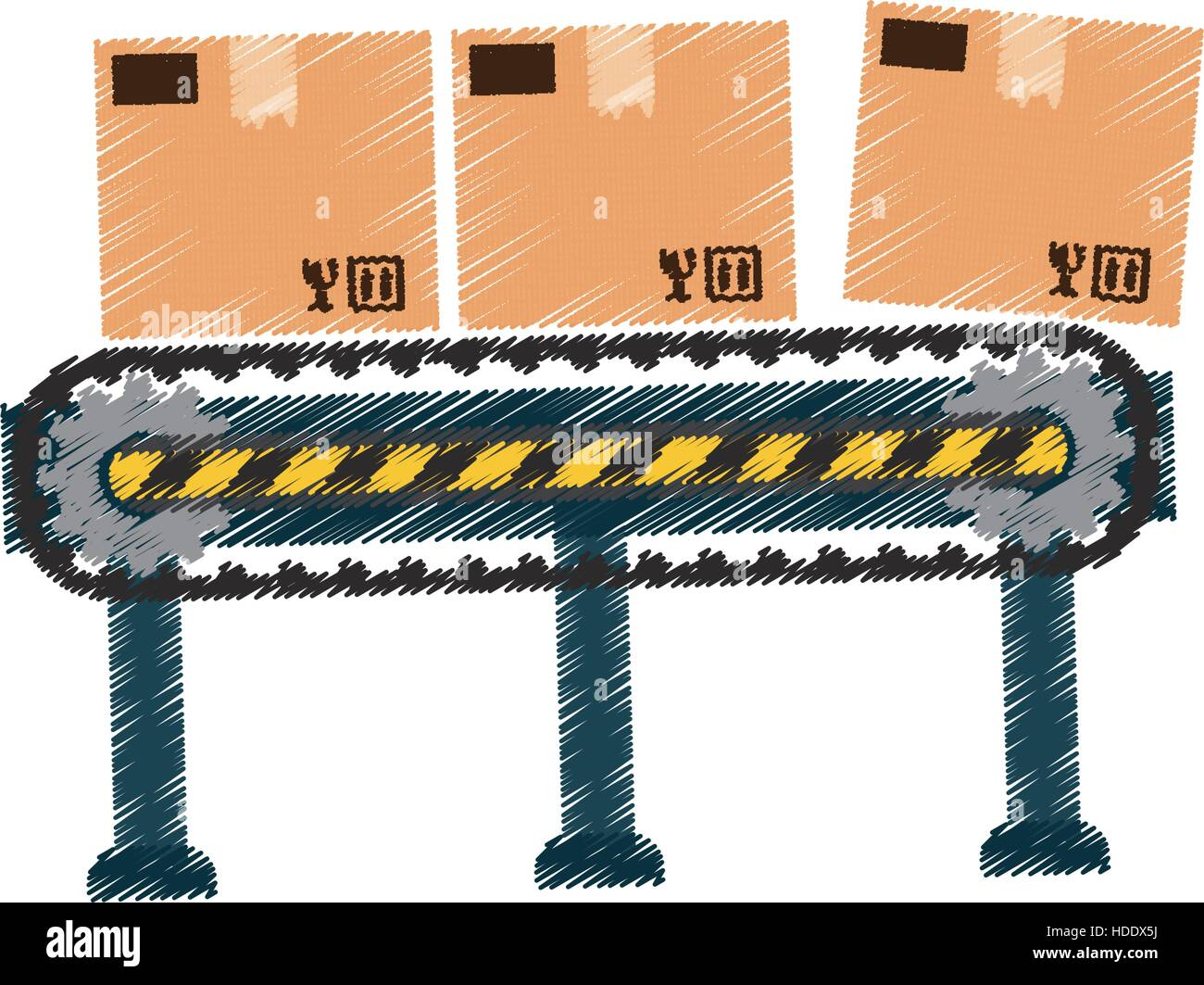 Delivery box shipping - Stock Vector