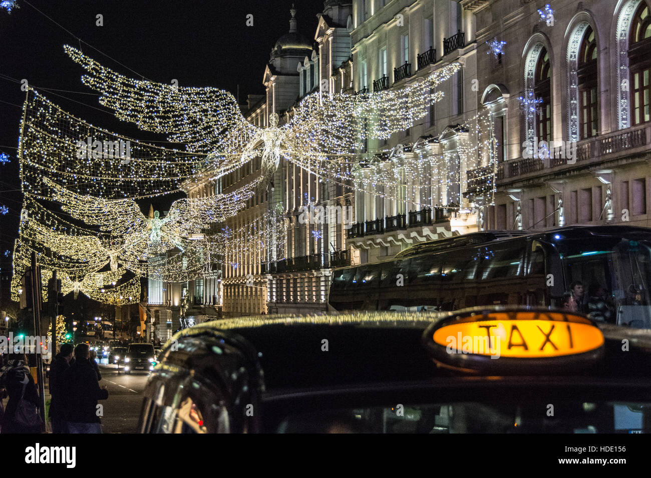 Christmas lights in London's West End, UK - Stock Image