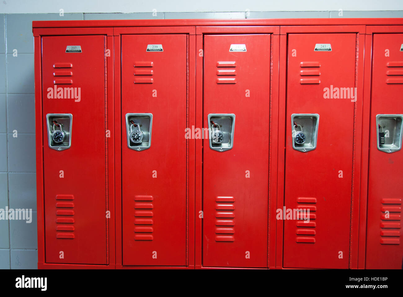 Red school lockers at ps87 william t sherman school upper for T mobile upper west side
