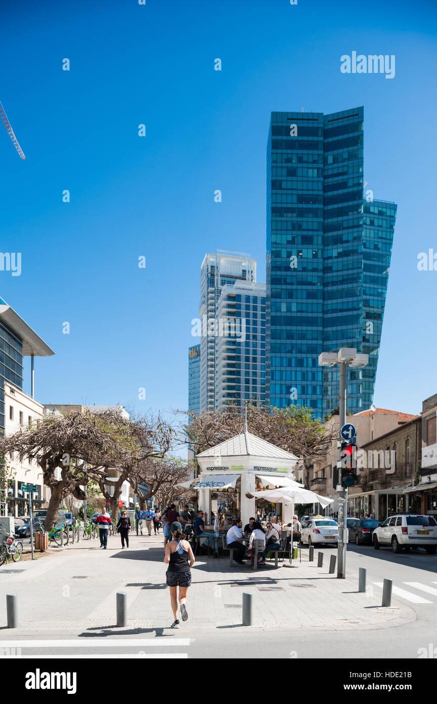 Israel, Tel Aviv-Yafo, sderot Rothschild boulevard - Stock Image