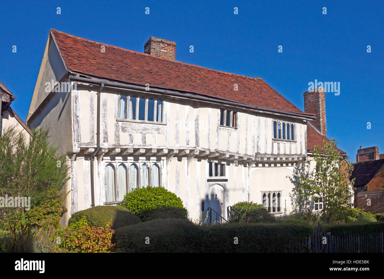 Timber framed house in Lady Street, Lavenham, Suffolk, England. A picturesque historic village. - Stock Image