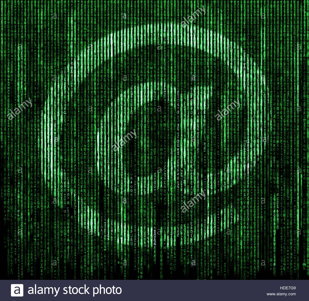 e-mail matrix background - Stock Image
