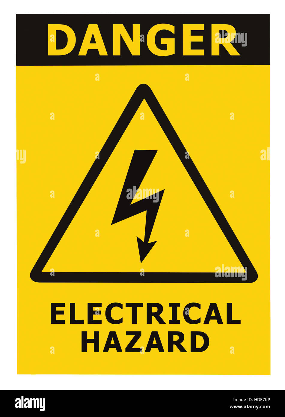 Electrical Signal Stock Photos Images Alamy Cubicle Wiring Diagram Network Danger Hazard Text Yellow Triangle Sign Label Isolated Image