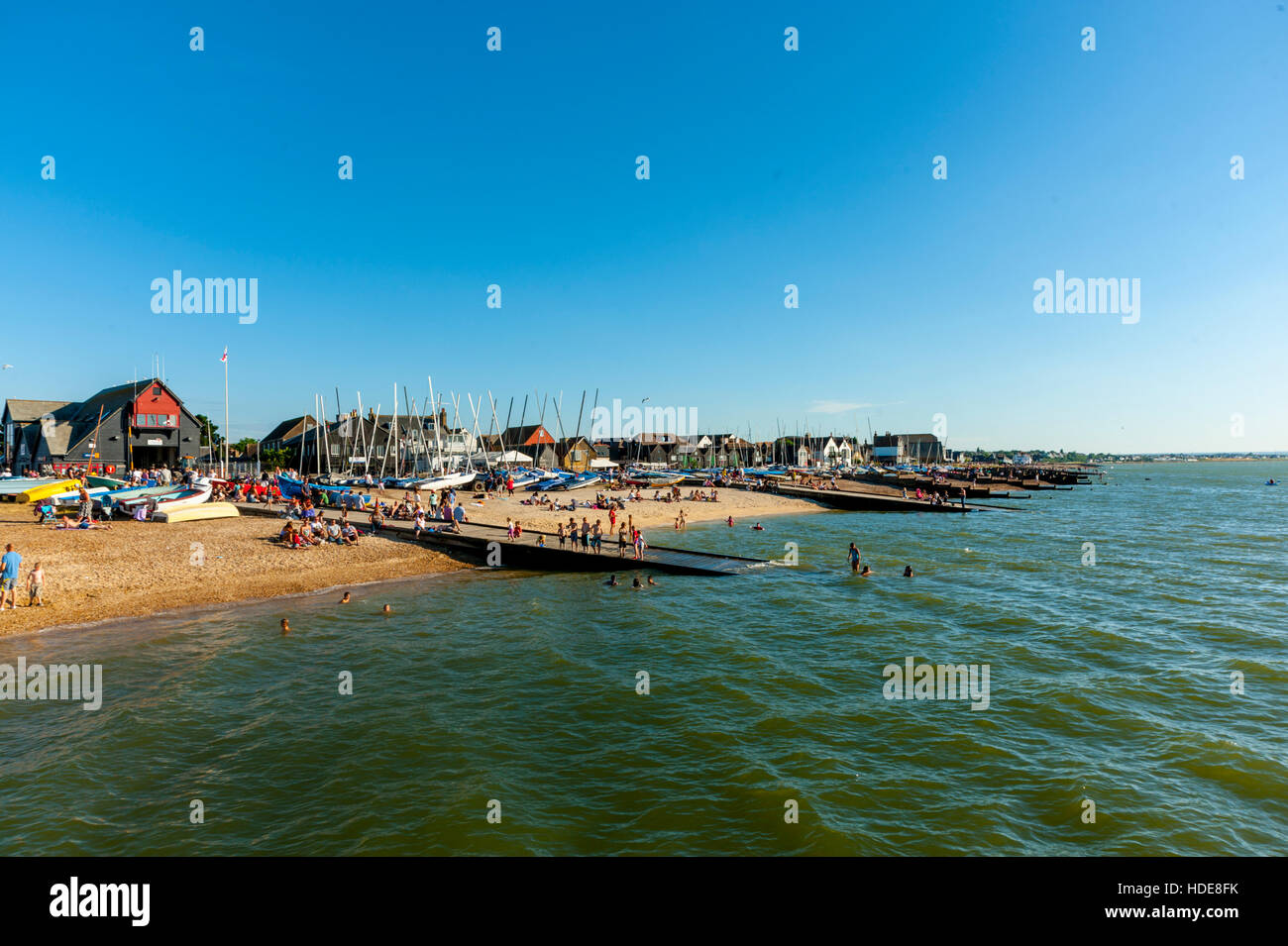 The beach Whistable Kent. - Stock Image