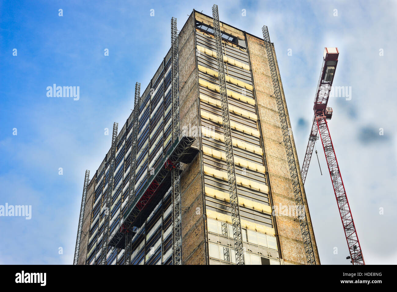 Building Under Reconstruction - Stock Image
