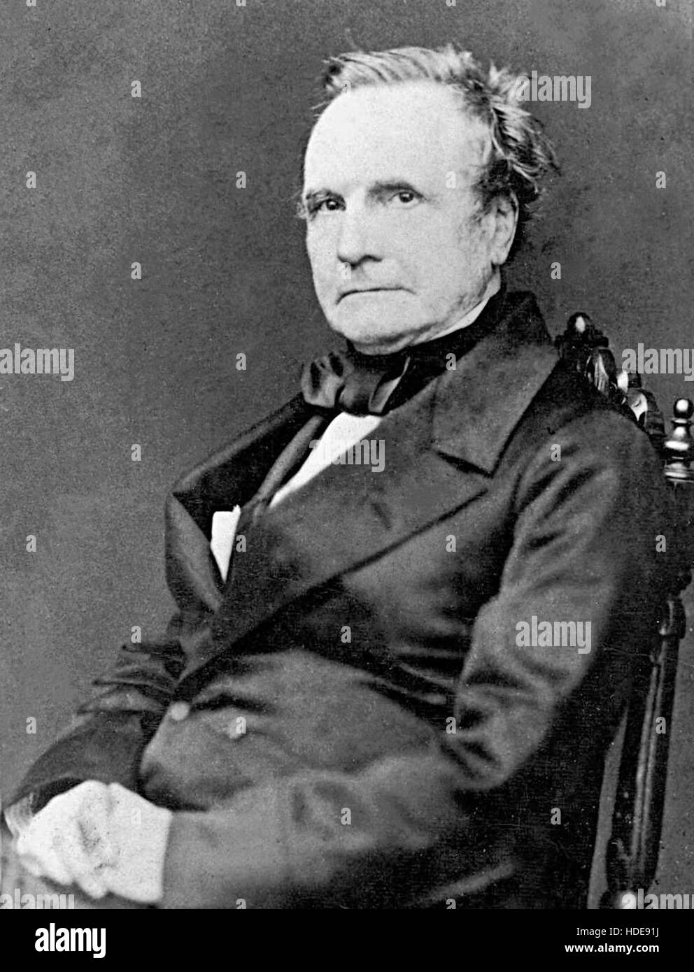 Charles Babbage, English mathematician, philosopher and inventor - Stock Image