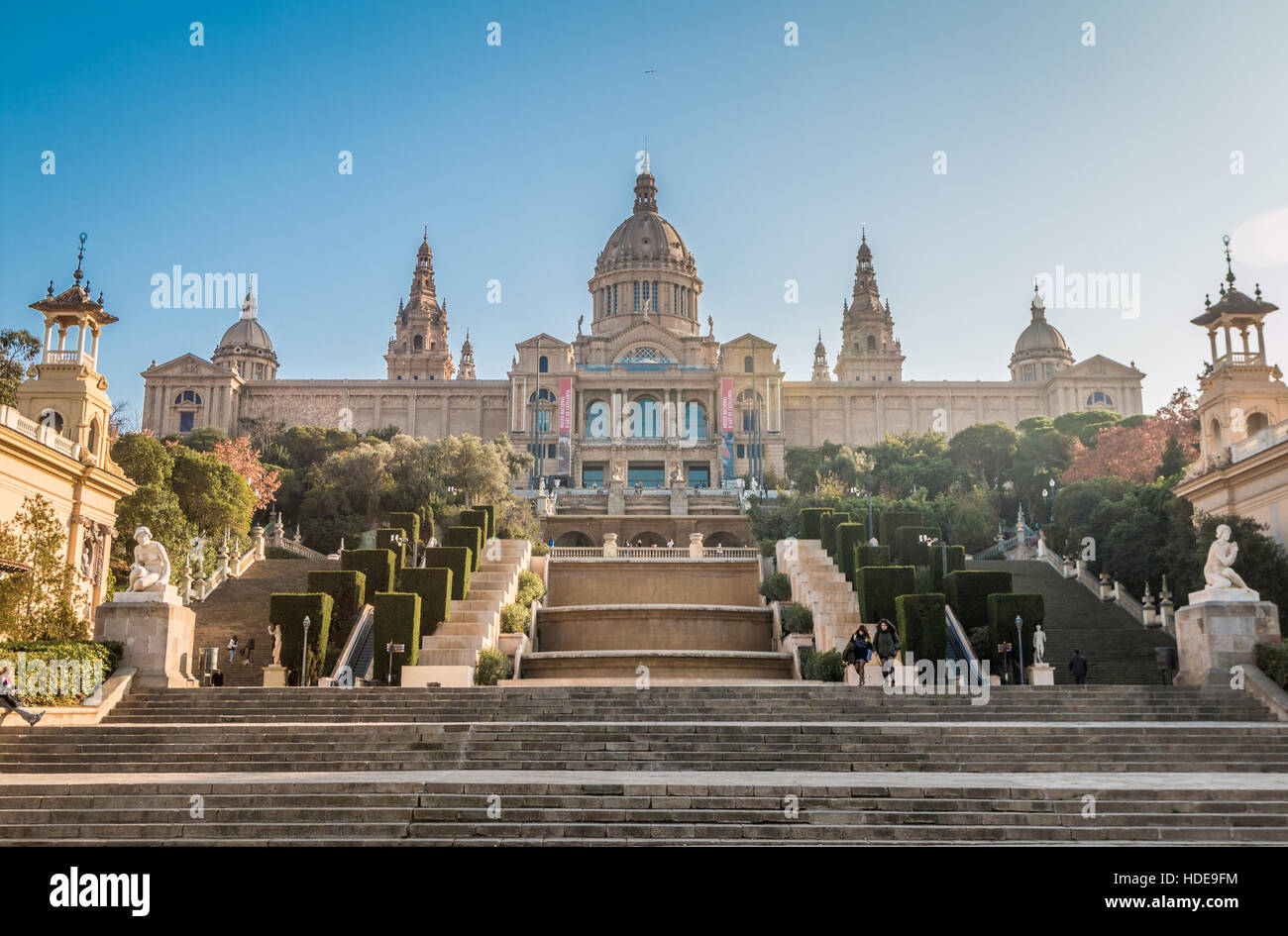 National museum of Arts in Barcelona - Stock Image