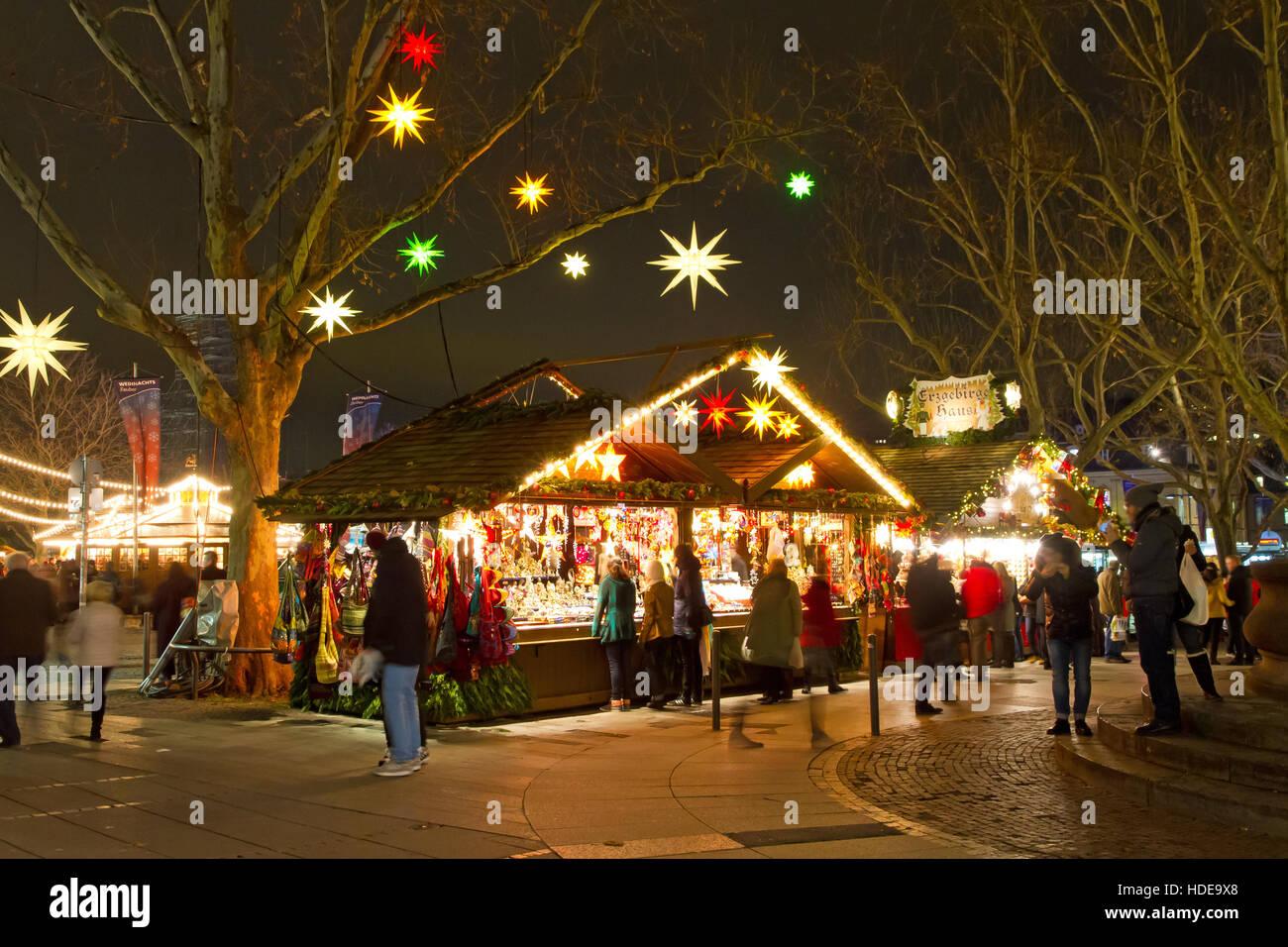 Christmas In Stuttgart Germany.Christmas Market In Stuttgart Germany Stock Photo