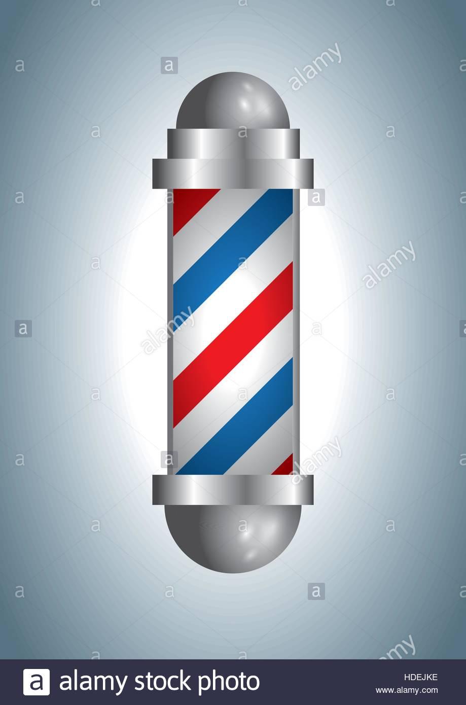 Vintage Barber Shop Vector Barberpole Optical Illusion Illustration