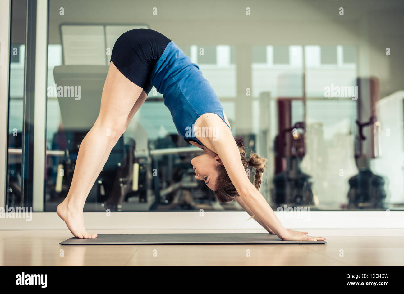 Yoga Pose Daily Routine Stretching Stock Photos & Yoga Pose