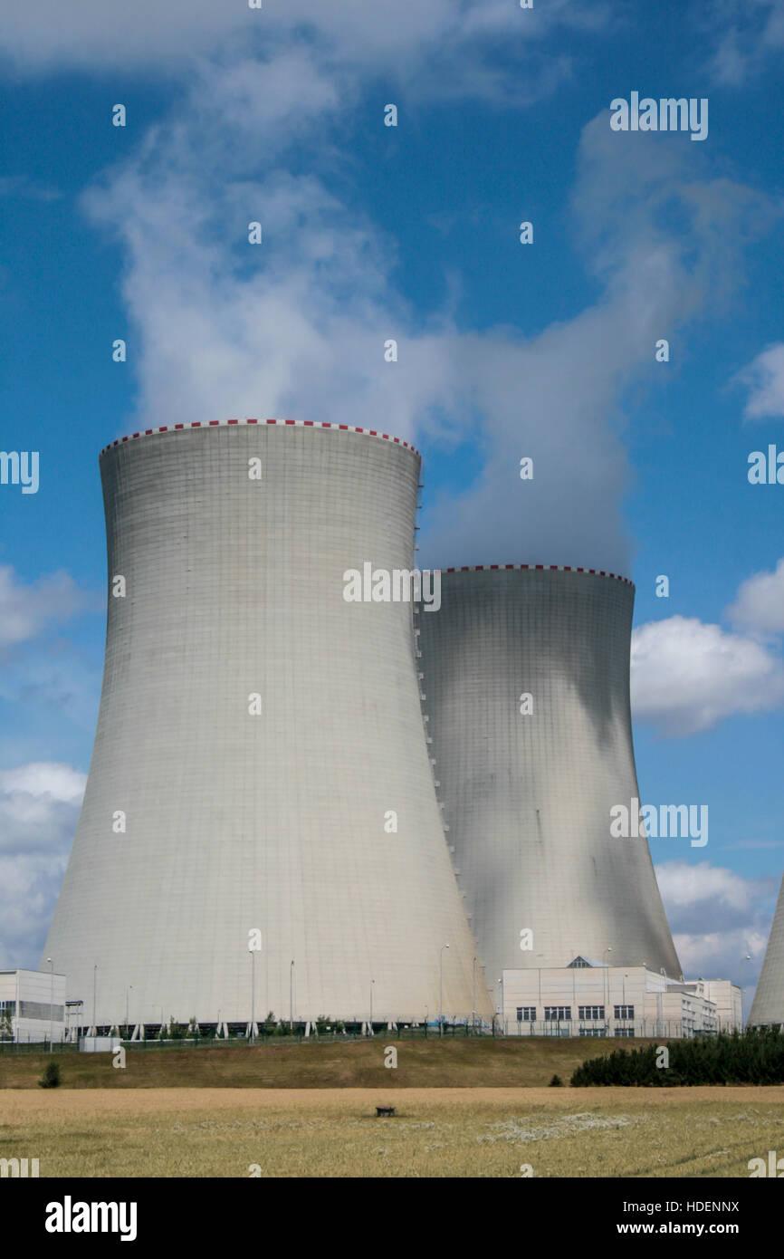 Temelín - Atomic power plant, nuclear energy, anti-nuclear movement - Stock Image
