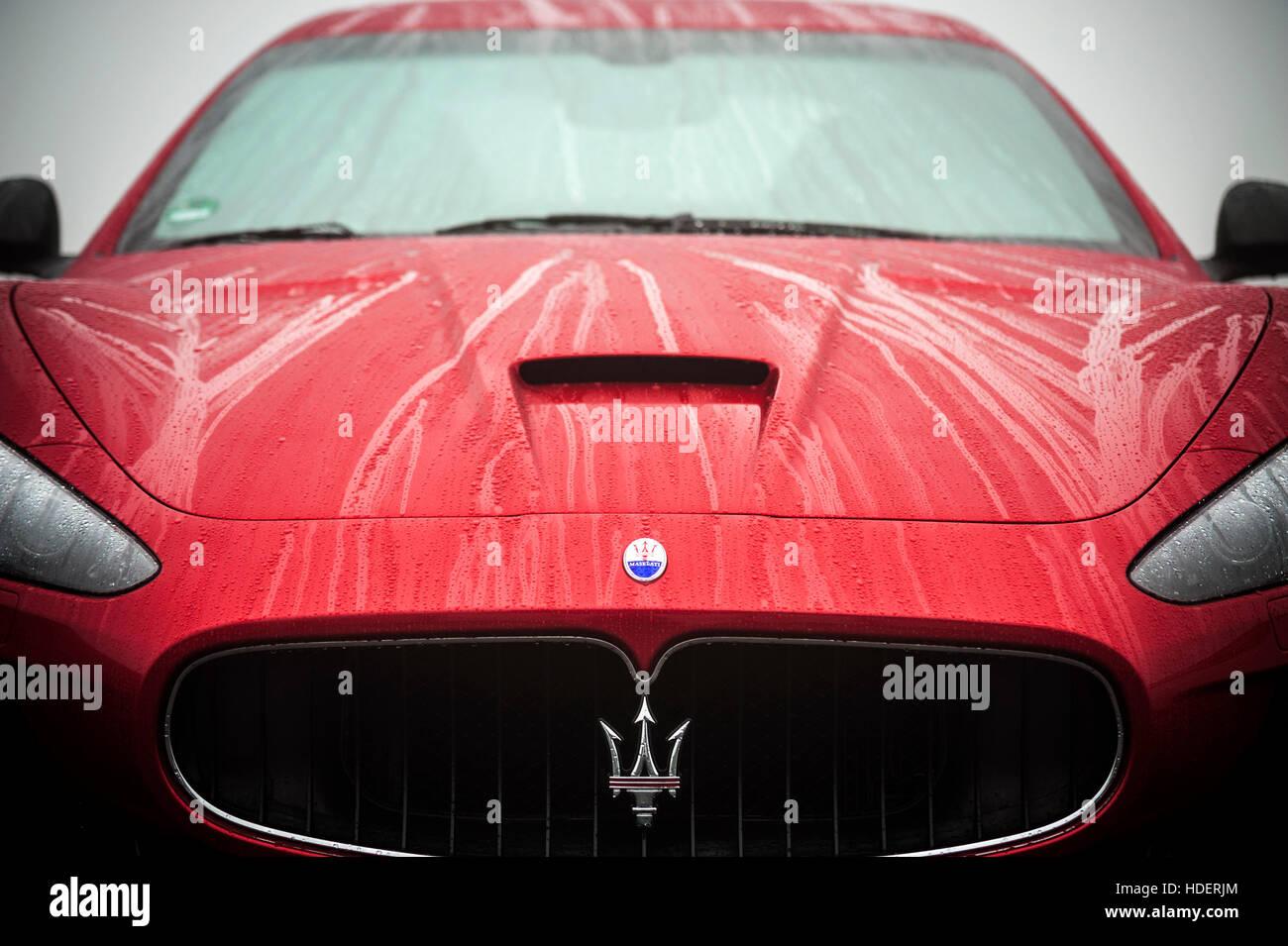Red Maserati Ghibli - Stock Image
