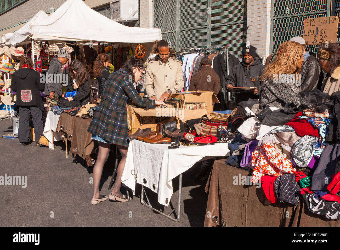 The Grand Bazaar Sunday market, Upper West Side of Manhattan