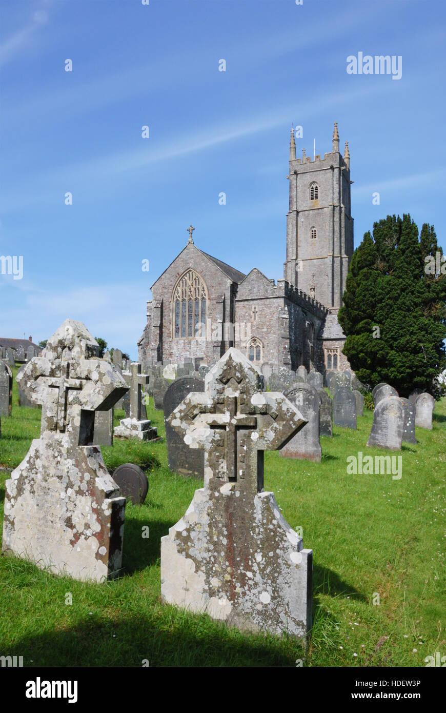 St Nectan's Church at Stoke near Hartland in North Devon Stock Photo