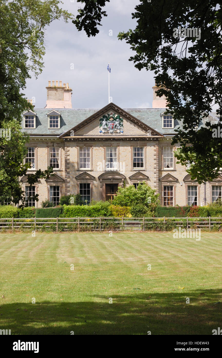 Wootton Hall at Wootton Park in Wootten Wawen Stock Photo