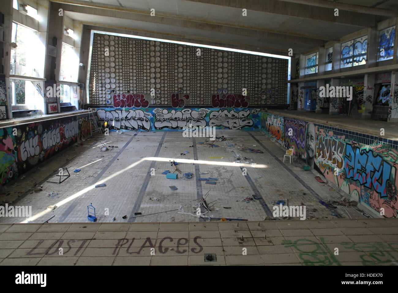 Luminy Abandoned Swimming Pool In Marseille Stock Photo Alamy