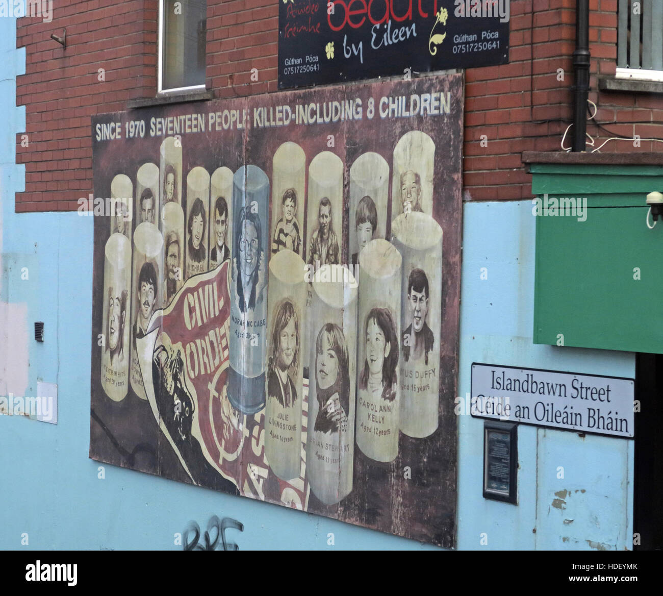 Civil Order mural,West Belfast,Northern Ireland, UK - Stock Image