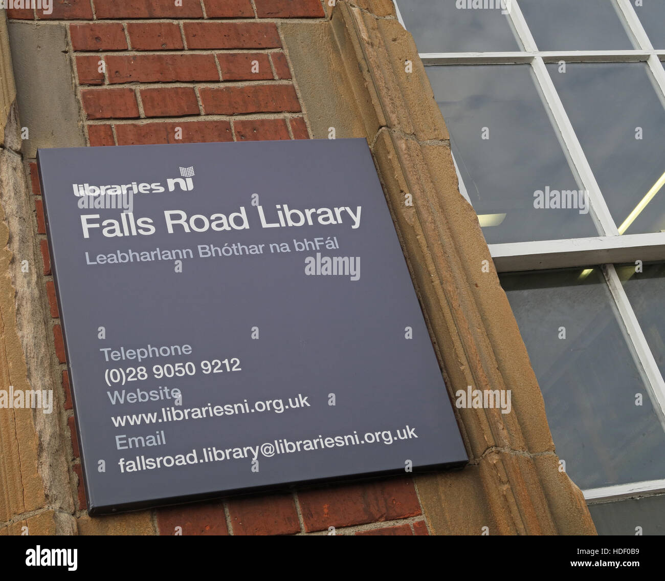 Belfast Falls Rd Library - Stock Image