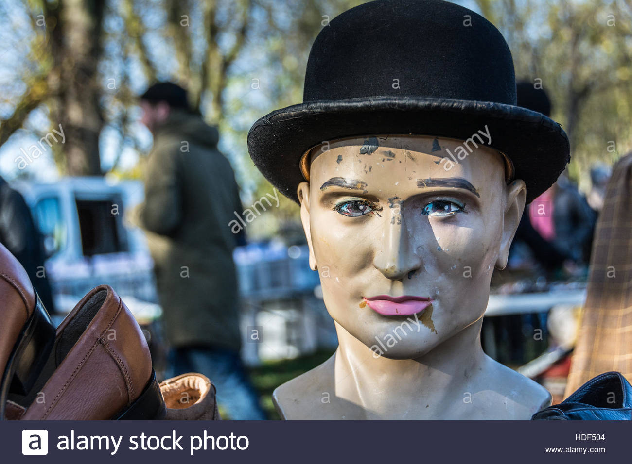 An Englishman s Bowler Hat at a car boot sale in London feef2e7ac4f