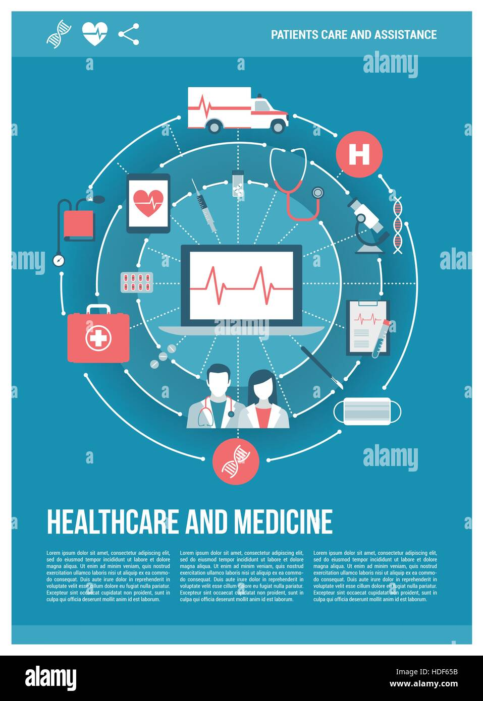 Healthcare, doctors, hospital and emergency concepts on a