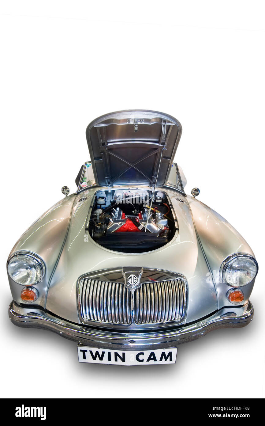 Vintage car 'MG A 1600', built as a Twin Cam - Stock Image
