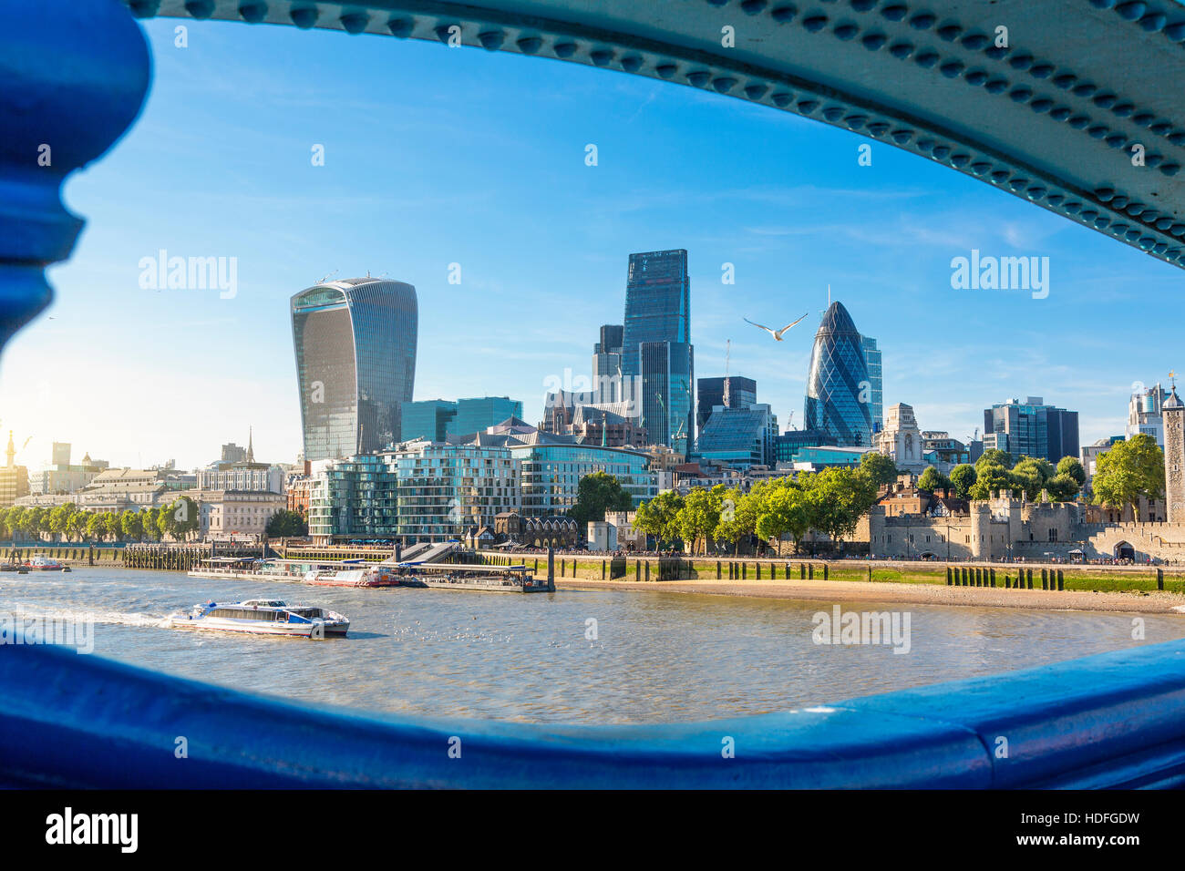 City of London one of the leading centers of global finance - Stock Image
