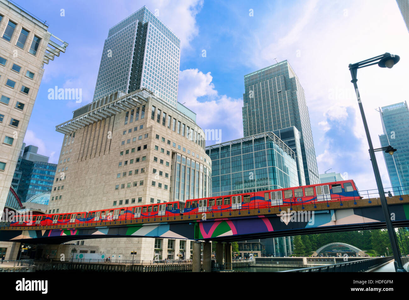 London, England, Canary Wharf  - one of the two major business districts in London Stock Photo