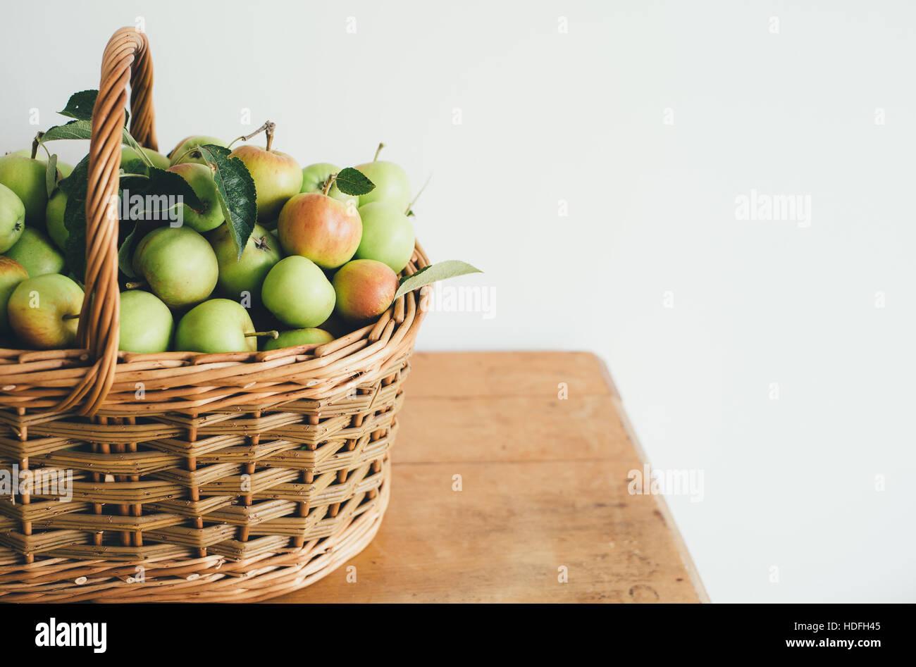 Basket of apples - Stock Image