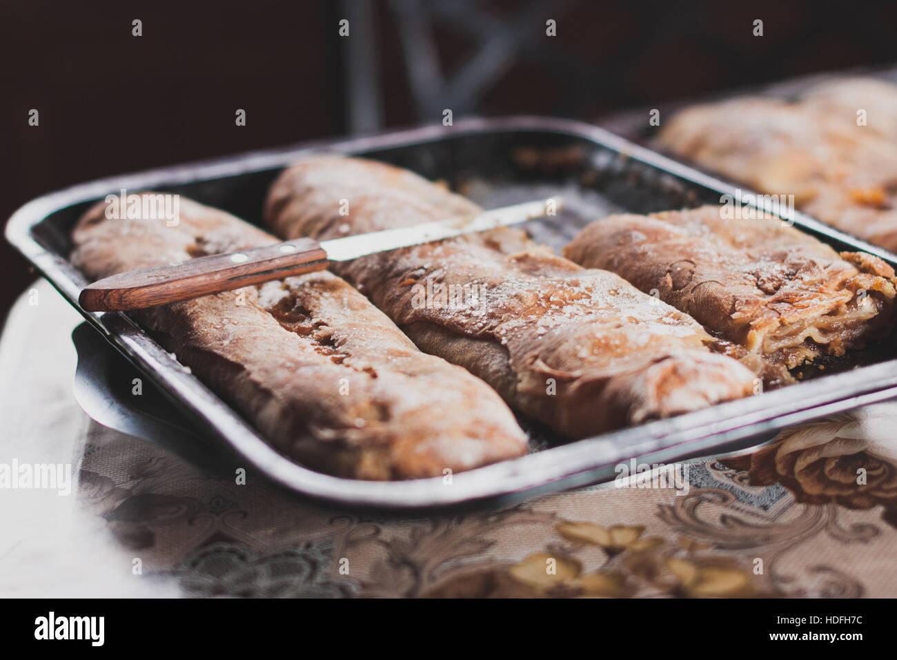 Freshly baked Artisan bread. - Stock Image