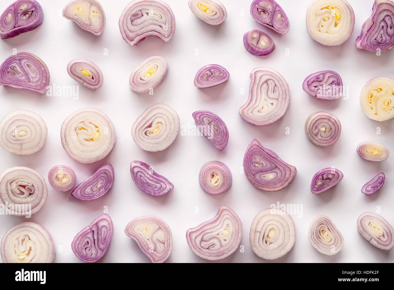 shallot onion vegetable ingredient aroma aromatic - Stock Image