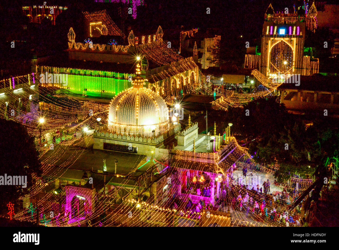 Ajmer india 11th dec 2016 a view of illuminated dargah khawaja ajmer india 11th dec 2016 a view of illuminated dargah khawaja moinuddin chishti during eid milad un nabi which commemorates the prophet muhammads or altavistaventures Images
