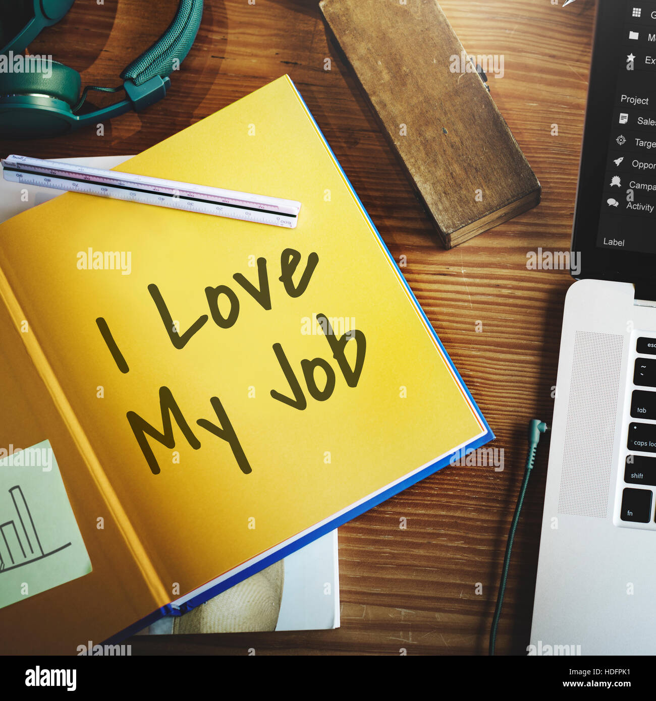 I Love My Job Positive Achievement Concept Stock Photo