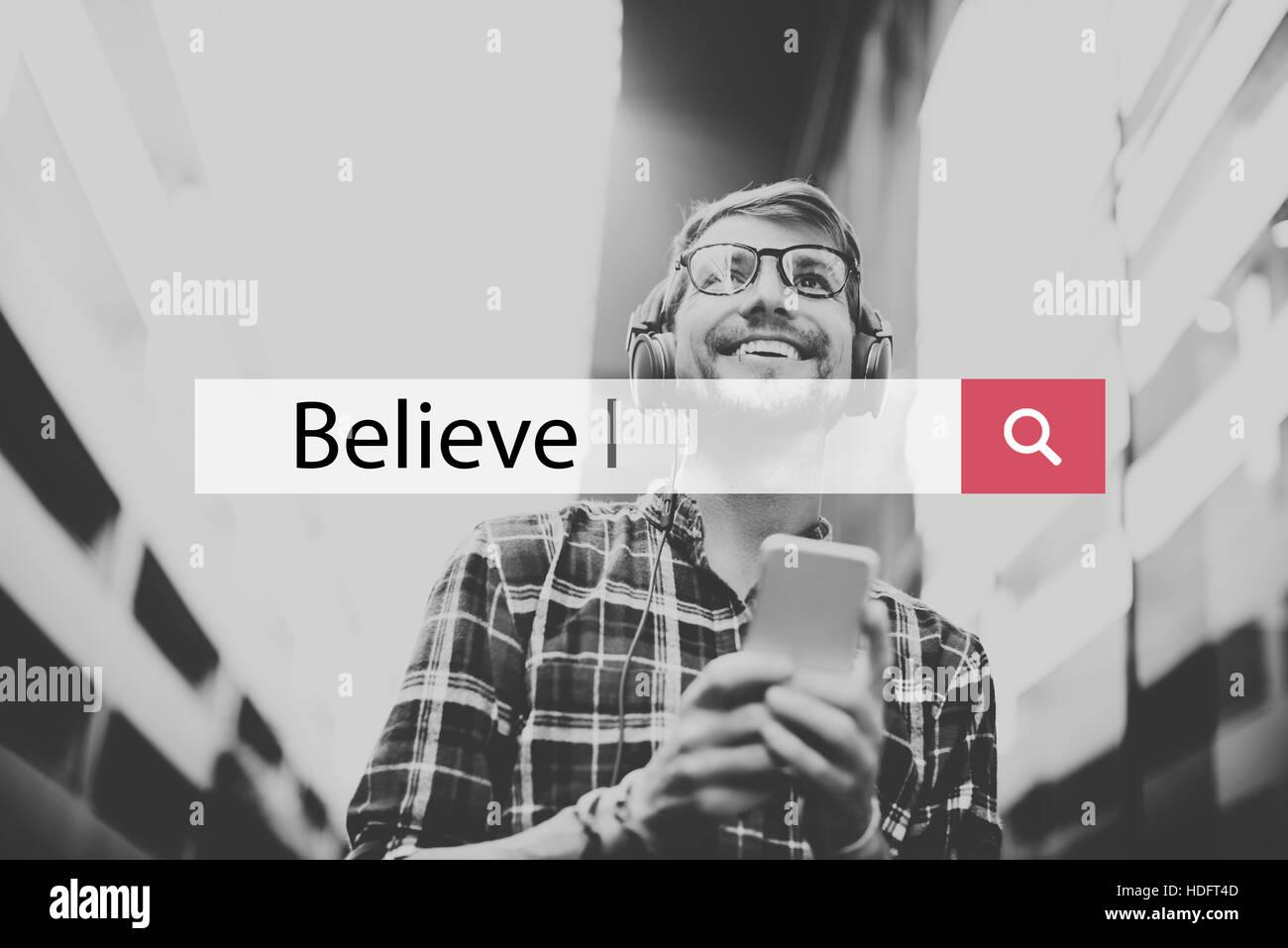 Believe Trust Faith Hope Concept - Stock Image