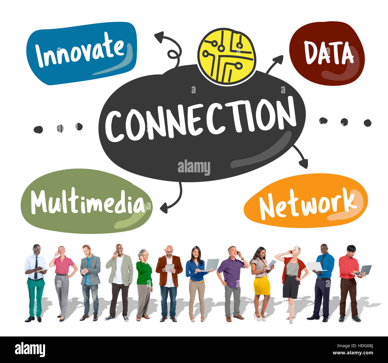 Internet Connection Word Diagram Concept Stock Photo: 128814578 - Alamy